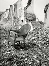 Chair in ruin Royalty Free Stock Images