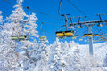 Chair ski lift Royalty Free Stock Photo