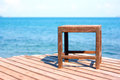 Chair on the wooden deck by the sea samed island thailand Royalty Free Stock Photography
