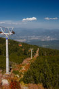 Chairlift  in mountains Royalty Free Stock Images