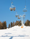 Chairlift at Ski Resort Stock Photos