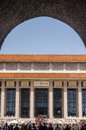 Chairman mao memorial hall or mausoleum of zedong tiananmen square beijing china Stock Photo