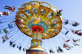 Chairoplane a in a luna park in santa cruz california Royalty Free Stock Photos