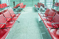 Chairs in the airport lounge area Royalty Free Stock Photo