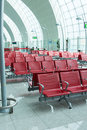 Chairs in  airport lounge area Royalty Free Stock Photo