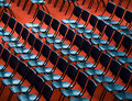 Chairs in an audience Stock Image