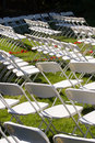 Chairs on Grass Royalty Free Stock Images