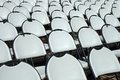 Chairs in open air cinema Royalty Free Stock Photo