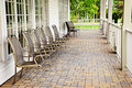 Chairs on patio Royalty Free Stock Images