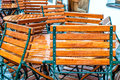 Chairs with raindrops Royalty Free Stock Photo