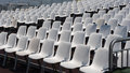 Chairs in rows in an open air theatre Royalty Free Stock Photo