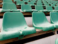 Chairs in stadium Royalty Free Stock Photo