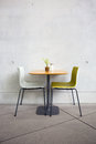 Chairs and table in the cafe Royalty Free Stock Photo