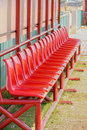 Chairs weiv sport row of red Stock Photos