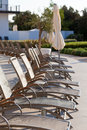 Chaises de poolside d h tel Photographie stock