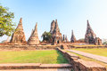 Chaiwatthanaram temple wat at ayutthaya historical park thailand Stock Photo