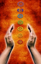 Chakra energy Stock Photos