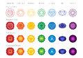 Chakras Symbols Color Vector Set Royalty Free Stock Photo