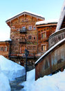 Chalet beautiful in crans montana switzerland Stock Photography