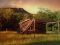 Chalet an image of in sunset Stock Photography