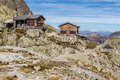 Chalet le refuge du lac blanc france view of mountain and mountain range mont area Royalty Free Stock Image