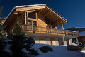 Chalet in the swiss alps Stock Images
