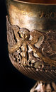 Chalice detail details of old used in liturgies Royalty Free Stock Photography