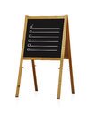 Chalk board with checkbox on white background Royalty Free Stock Photo