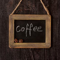 Chalk board with wood frame. Royalty Free Stock Photo