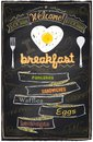 Chalk breakfast menu. Royalty Free Stock Photo