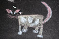 Chalk cat Stock Photo
