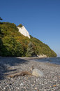 Chalk cliff at jasmund national park Royalty Free Stock Photos