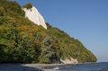 Chalk cliff at jasmund national park Royalty Free Stock Photo