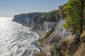 Chalk cliff at jasmund national park Stock Image