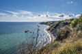 Chalk cliff at jasmund national park Royalty Free Stock Images