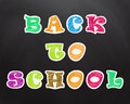 Chalk, crayon text on the school board. Back to School Royalty Free Stock Photo
