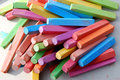 Chalk crayons colorful for painting on the asphalt Stock Image