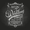 Chalk drawing.Wedding decorations