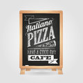 Chalk drawings. Menu. Pizza