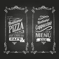 Chalk drawings retro typography menu Stock Photography
