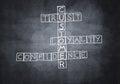 Chalk drawn crossword