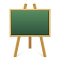 Chalk green board in a wood frame on white background. Royalty Free Stock Photo