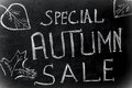 Chalk inscription, special autumn sale black chalkboard