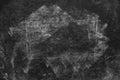 Chalk marks on dirty school blackboard Royalty Free Stock Photo