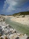 Chalk sound providenciales turks caicos national park Royalty Free Stock Photos