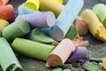 Chalk Sticks Royalty Free Stock Images