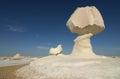 Chalk stone formation white desert called chicken mushroom white desert belongs to egyp ts western desert s part sahara Royalty Free Stock Photography