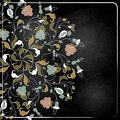 Chalk style hand drawn flowers Royalty Free Stock Photos