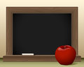 Chalkboard and apple Royalty Free Stock Photo