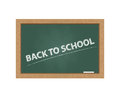 Chalkboard with back to school text Royalty Free Stock Images